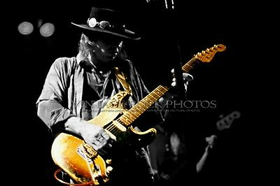 Stevie Ray Vaughan Photo 8x12 in '80s Live Concert Ltd Edition Studio Design 70