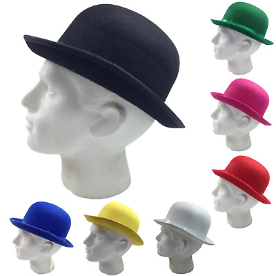 BOWLER HAT Party Costume Derby Fancy Dress Dance Halloween Vintage Cap New