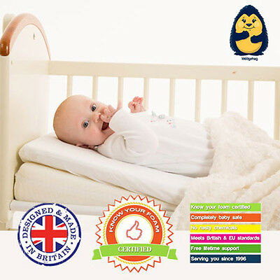 Crib/Pram Wedgehog® Reflux Wedge/Pillow (38cm) - with Free Bundled Reflux Guide