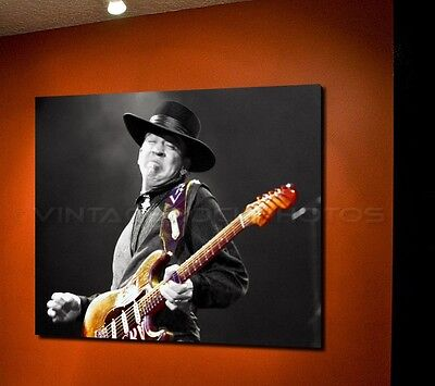 Stevie Ray Vaughan Poster 16x20 in Photo '80s Live Concert Ltd Ed Design 58