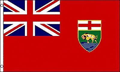 Large 3' x 5' High Quality 100% Polyester Manitoba Flag - Free Shipping