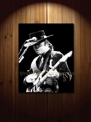Stevie Ray Vaughan Poster 16x20 inch Photo '80s Live Concert Pro Canon Print 16
