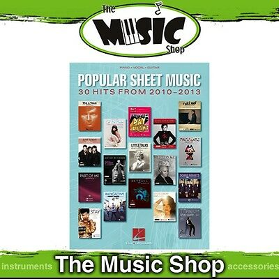 New Popular Sheet Music 30 Hits 2010-2013 PVG Music Book - Piano Vocal Guitar