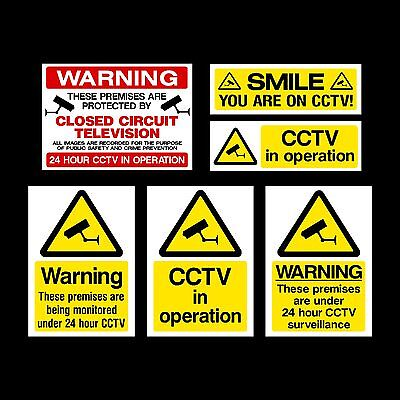 CCTV Sign, Sticker, Window Sticker - All Sizes & Materials - Reads from outside.