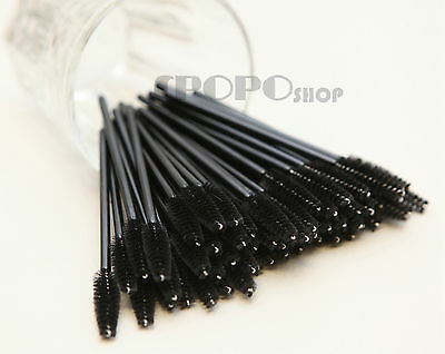 25/50/100/500/1000pc Disposable Mascara Wands Eyelash Brush Applicator Extension