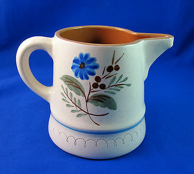 Stangl Pottery Blue Daisy Milk Juice Large Pitcher Vintage Made in USA Trenton