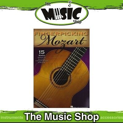 New Fingerpicking Mozart for Guitar Music Book - Includes Tab