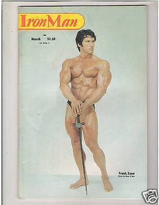 Vintage IronMan Bodybuilding muscle Mr Olympia FRANK ZANE/James Gaubert 3-80