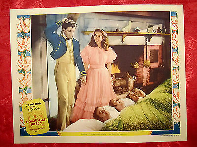 The Gorgeous Hussy (1936) Joan Crawford/robert Taylor Original Rare Lobby Card