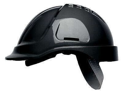 Scott HC600V Hard Hat Safety Helmet Vented with Sweatband Black White or Yellow