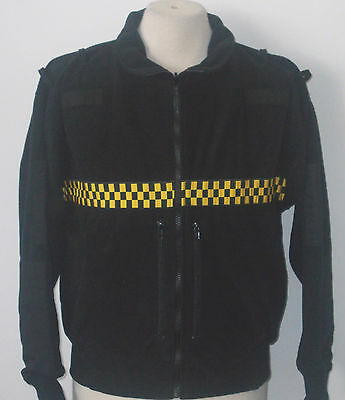 New security jacket with yellow chequer hi-vis tape #66387