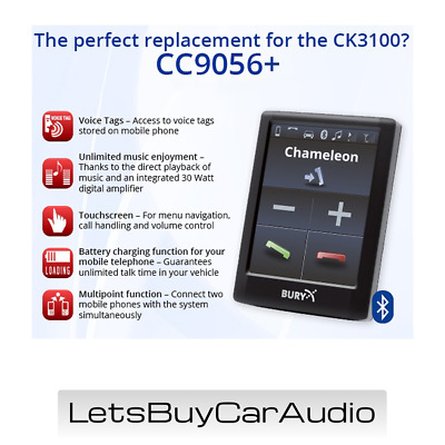 Thb Bury Cc9058 Touchscreen Bluetooth Hands Free Car Kit,  A2Dp Audio Streaming