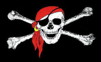 Large 3' x 5. High Quality 100% Polyester Pirate Bandanna Flag - Free Shipping