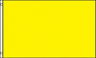 Large 3' x 5. High Quality 100% Polyester Solid Yellow Flag - Free Shipping