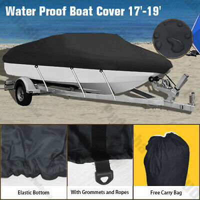 600D Heavy Duty 20ft to 22ft Trailable Boat Cover V-Hull 100 inch Beam GBT3H