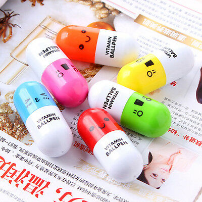 6pcs Student Children Kid Novelty Pill Doctor Nurse Ballpoint Pen Toy Gift WFEU