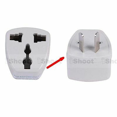 US EU Europe UK to AU Australia Power Plug Adapter Travel Converter for 220-240V