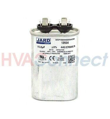 15 MFD 440 v OVAL Run Capacitor MARS 12934 replaces GE 97F9625BZ3 2MDY9