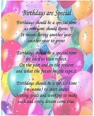 Birthdays Are Special Personalized Friendship Birthday Gift
