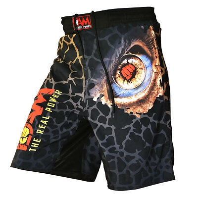 NEW DAM Pro MMA Fight Shorts PUNCH EYE UFC Cage FightGrappling MuayThai Boxing