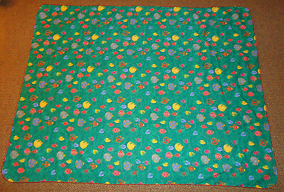"Christmas Holiday Tablecloth 52"" x 70"" features Ornaments on Tree Branches"