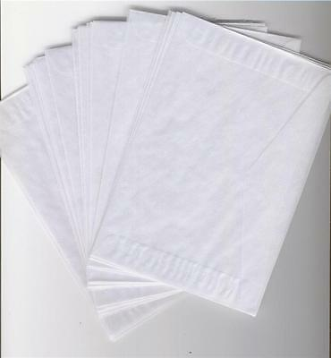 100 new & fresh #8 Glassine Envelopes---4 1/2 X 6 5/8 WITH FREE SHIPPING