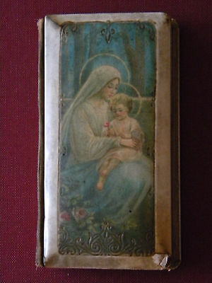 1891 ANTIQUE RELIGIOUS BOOK OUR LADY w/ JESUS COVER