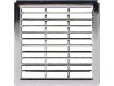 1 Chrome Grill Ventilation Trim Soffit Air Vent 50 X 50 Camper Vw Fridge Vent