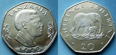 Tanzania 1992 20 Shillings Uncirculated (KM27.2)