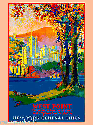 West Point Military New York Vintage United States Travel Advertisement Poster