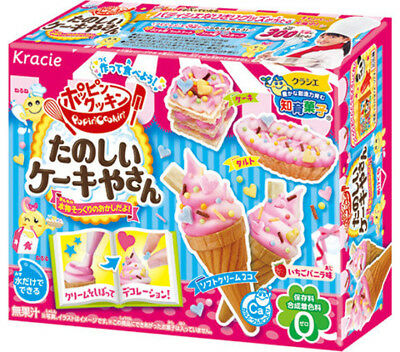 KRACIE POPIN COOKIN CAKE SHOP KIT. DIY Japanese candy cake.Happy Kitchen. Poppin