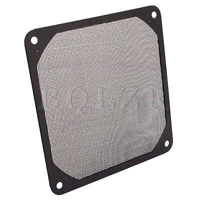 Black 120mm PC Computer Chassis Fan Dustproof Filter Mesh Metal Strainer
