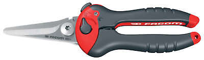 Facom Tools BLACK RED  Straight Metal Plastic Cable Leather Cutters Tool Snips