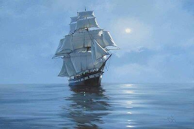 Best gift home decor oil painting HD prints on canvas morning of the ship 16x 20