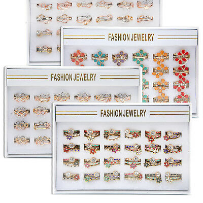 72 x RINGS SET DISPLAY TRAYS DIFFERENT DESIGNS DIFFERENT SIZES WHOLESALE UK