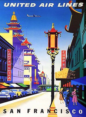 San Francisco Chinatown California United States Travel Advertisement Poster