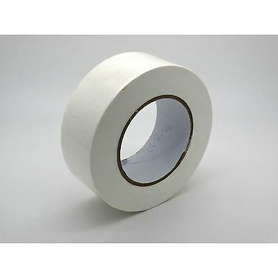 STRONG RELIABLE 50m x 48mm WHITE ADHESIVE GAFFA DUCT DUCK CLOTH REPAIR TAPE DIY