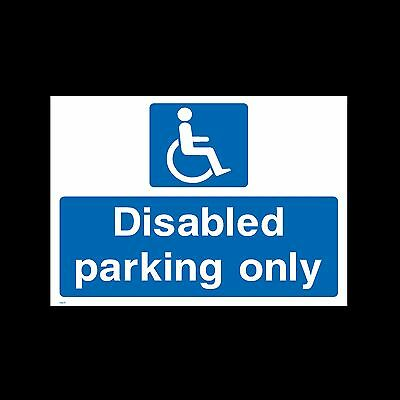 Disabled Parking Only Sign, Sticker, Metal - All Sizes & Materials - (HS11)