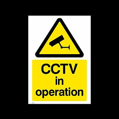 CCTV in Operation Sign, Sticker - All Sizes & Materials - Security (MISC11)