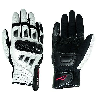 Gants Cuir Moto Motard sport Protection Articulation  Respirant perforé