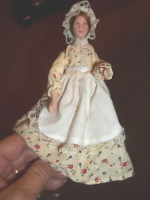 PORCELAIN country MAID DOLL - POSEABLE