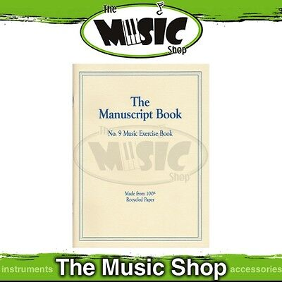 New The Manuscript Book No. 9 Music Exercise Book - 9 Stave