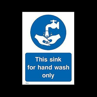 This sink for hand wash only - Sign, Sticker - All Sizes & Materials - (MISC55)