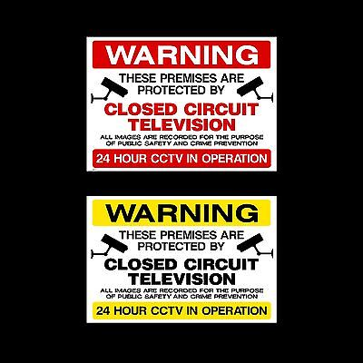 CCTV Closed Circuit TV Sign, Sticker - All Sizes & Materials - Security, Camera