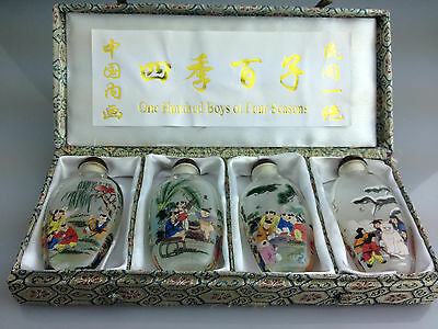 Chinese antique collectibles painting snuff bottles Painted glass