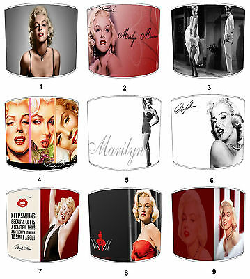 Lampshades Ideal To match Marilyn Monroe Cushions, Duvets, Curtains & Pictures.