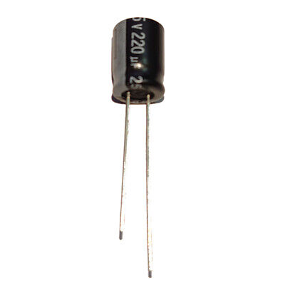 220uF 25V Radial Electrolytic Capacitors 105'C Pack of  2, 5, 10 or 20