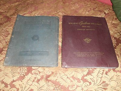 Lot of 2 Wright Cyclone Service Manual Instruction Book & vtg bulletin 1940