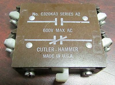 CUTLER HAMMER C320KA3 Series A2 Citation Auxiliary Contact