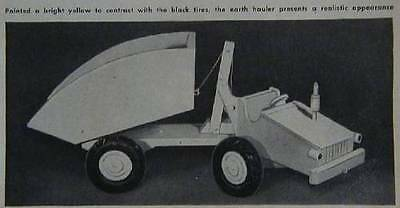 1954 Wooden Toy Dump Truck How-To PLANS Crank to Dump